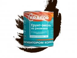 Грунт-эмаль по ржавчине 3 в 1 Krafor, алкидная, глянцевая